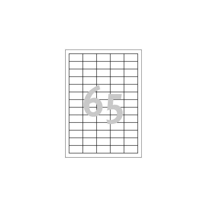 6500 étiquettes multi usages / 100 pages de 65 étiquettes