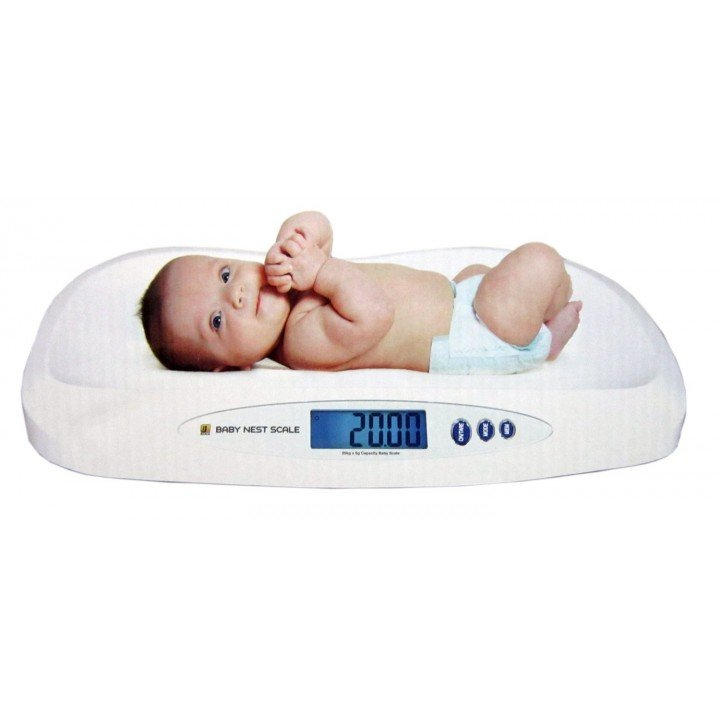 Jscale Jennings pèse bébé 20Kg x 5g