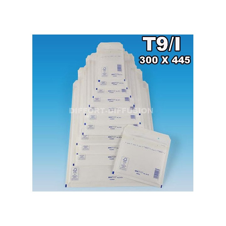 50 ENVELOPPES A BULLES T9 (320*450) BLANCHES