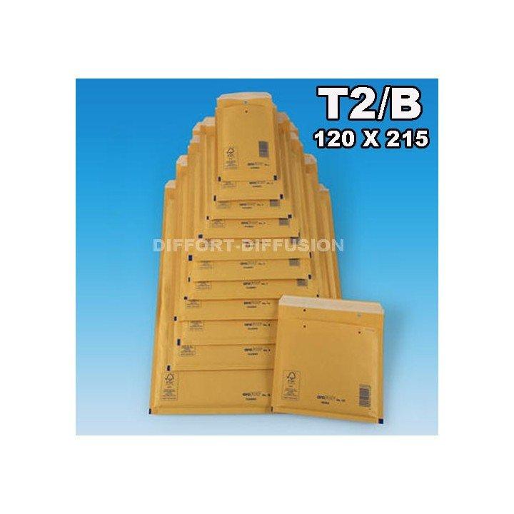 200 ENVELOPPES BULLES T2 (140*225mm) BRUNES