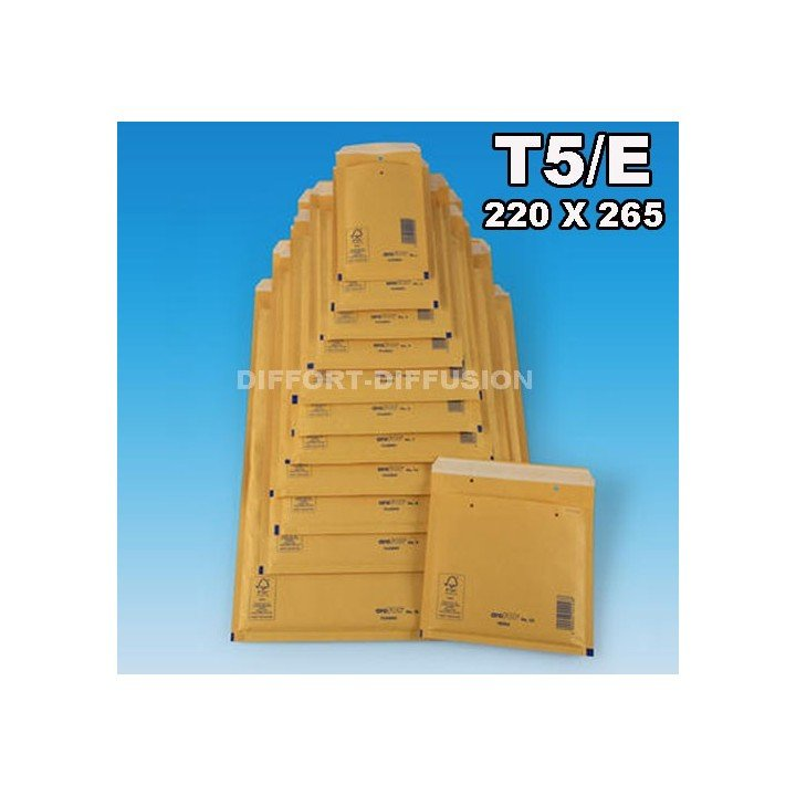 100 ENVELOPPES A BULLES T5 (240*275) BRUNES