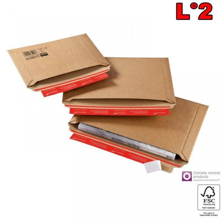 20 enveloppe carton latérale L1 (270x185mm) pochette avec cannelure