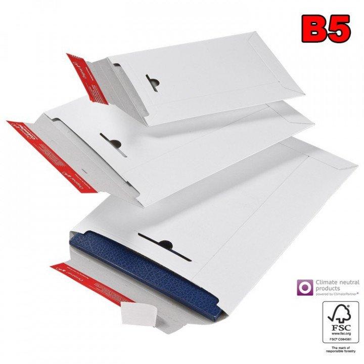 20 enveloppe cartonnée blanche B5 260x345mm