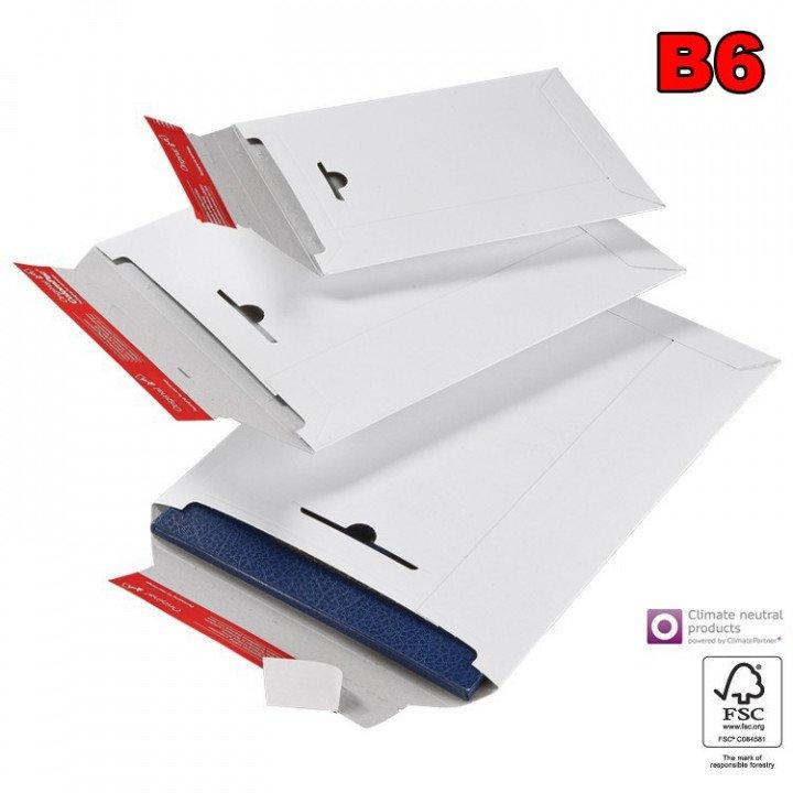 20 enveloppe cartonnée blanche B6 285x370mm