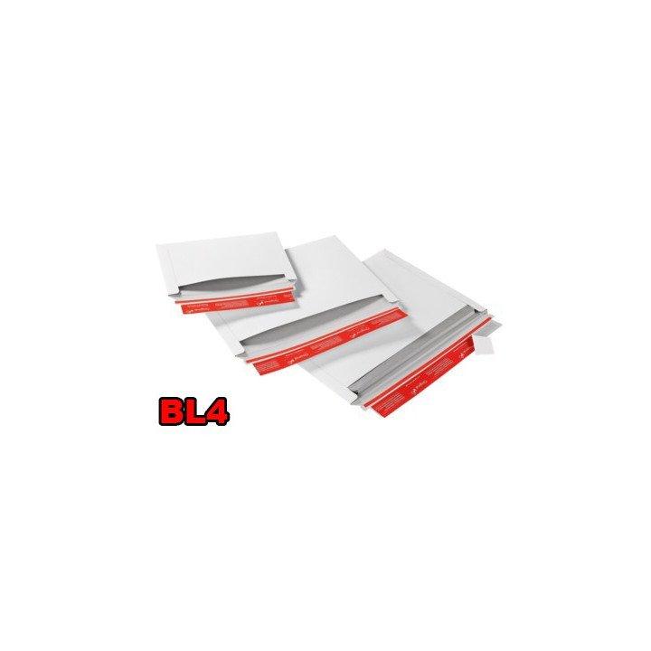 Enveloppe carton (X20) blanche BL1 310x445mm ouverture latérale