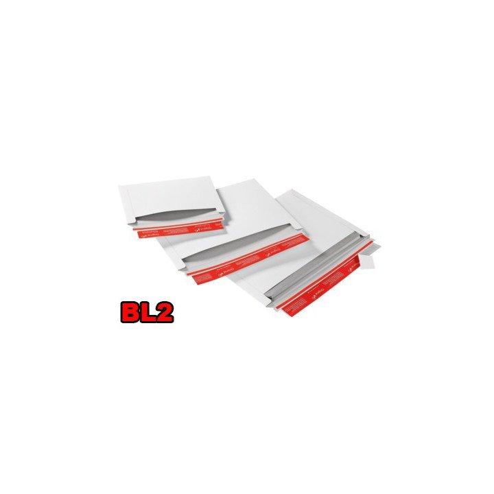 Enveloppe carton (X20) blanche BL2 248x174mm ouverture latérale