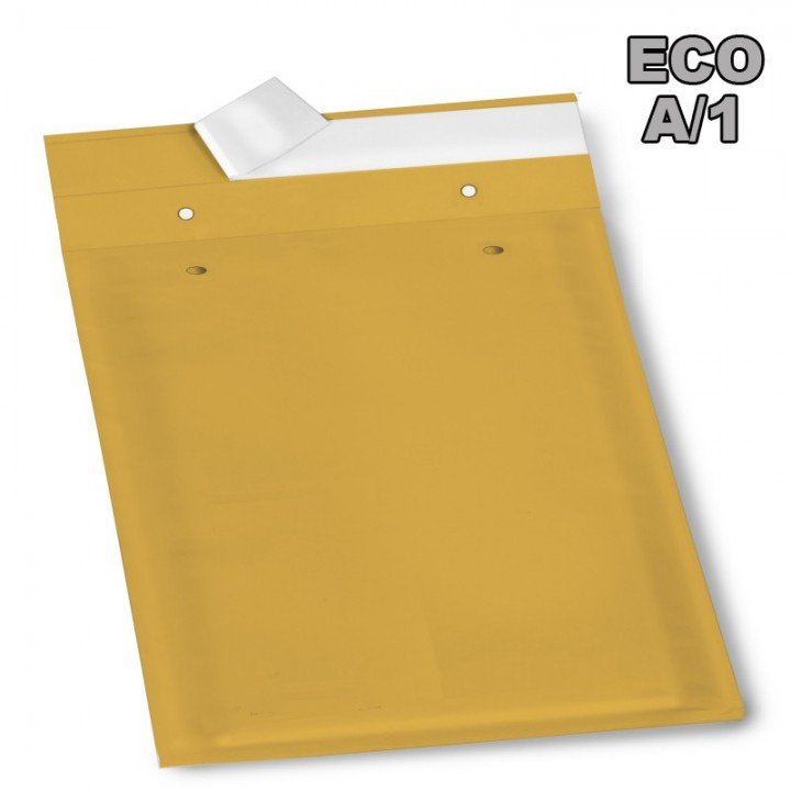 Petite enveloppe bulle Eco A/1 marron 100x165mm