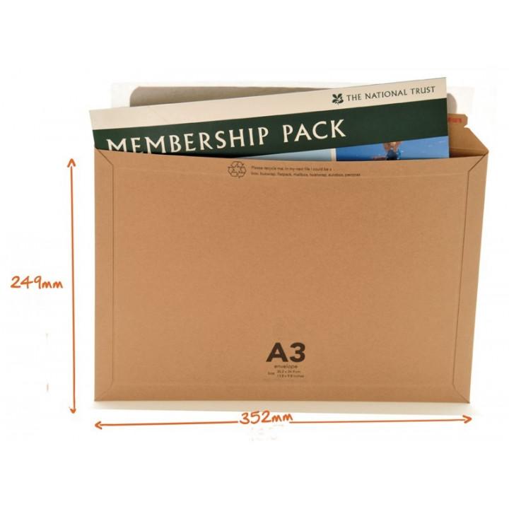 Enveloppes cartonnées A3 Format A4