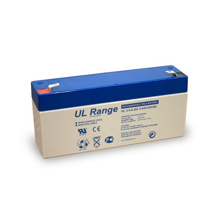 Batterie Ultracell  au plomb 6V 3.400mAh