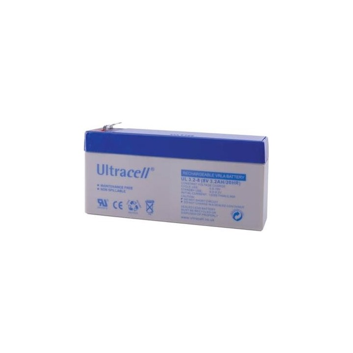 ULTRACELL UL3.2-8 batterie au plomb 8V 3,2AH 134x36,5x69mm