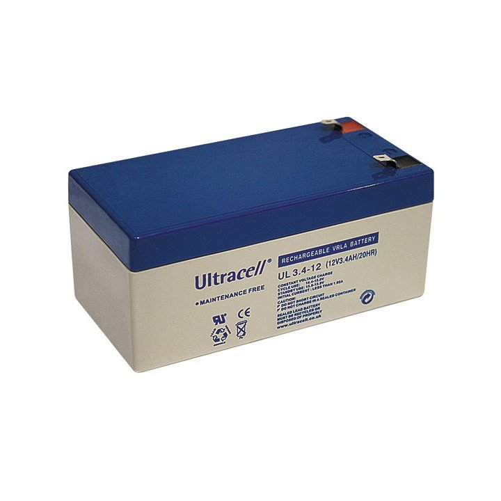 ULTRACELL UL3.4-12 batterie au plomb 12V 3,4AH 134x67x66,5mm