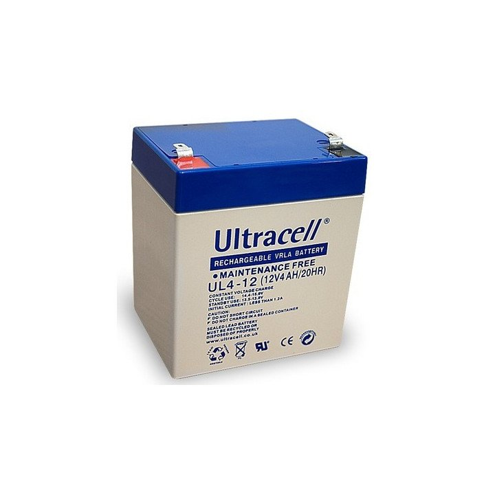 ULTRACELL UL4-12 batterie au plomb 12V 4AH 90x70x107mm