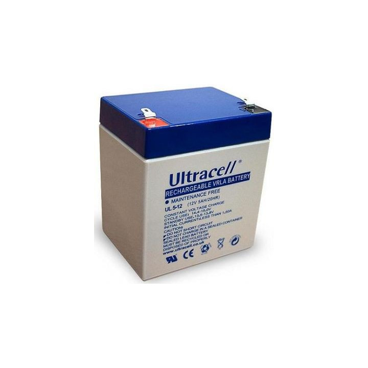 ULTRACELL UL5-12 batterie au plomb 12V 5AH 90x70x107mm