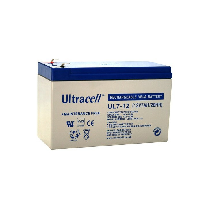 ULTRACELL UL5-12L batterie au plomb 12V 5AH 151x53x99mm