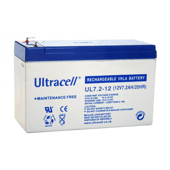 ULTRACELL UL7.2-12 batterie au plomb 12V 7,2AH 151x65x99mm