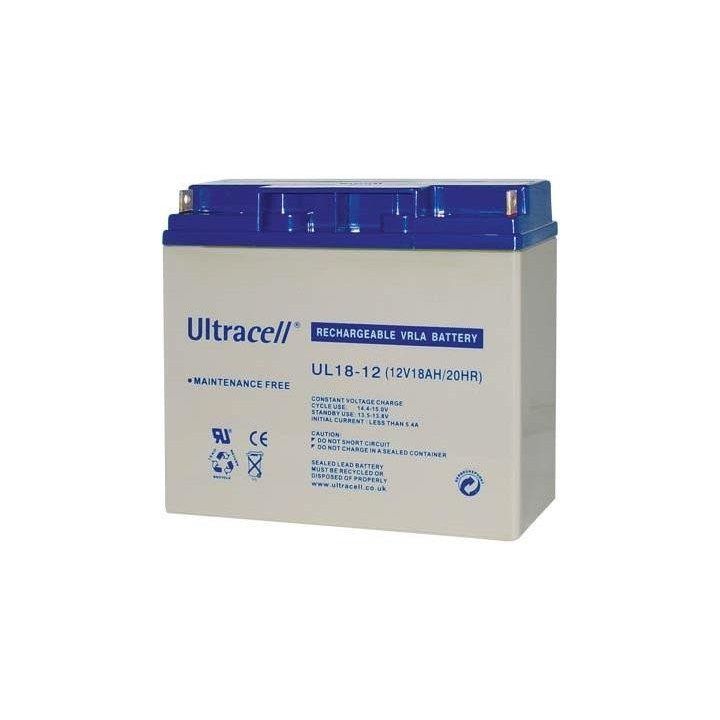 ULTRACELL UL18-12 batterie au plomb 12V 18AH 181,5x77x167,5mm