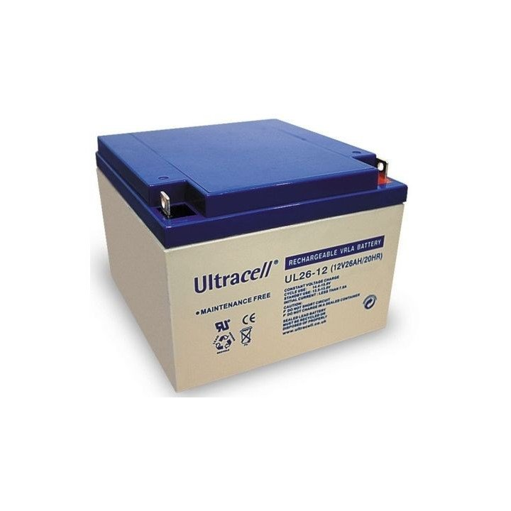 ULTRACELL UL26-12 batterie au plomb 12V 26AH 166,5x175x125mm