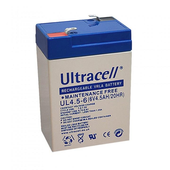 Batterie Ultracell UL4.5-6 au plomb 6V 4.500mAh