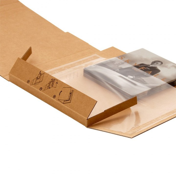 Lot 50 étuis postaux carton+ plastique P1 format DVD 220x170x15mm