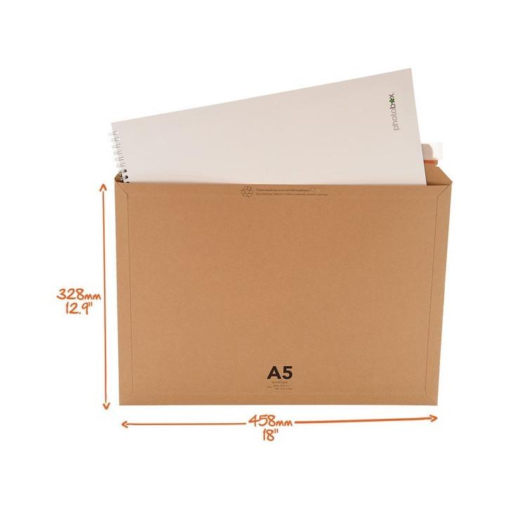 Enveloppe cartonnée FORMAT A5 328x458 mm