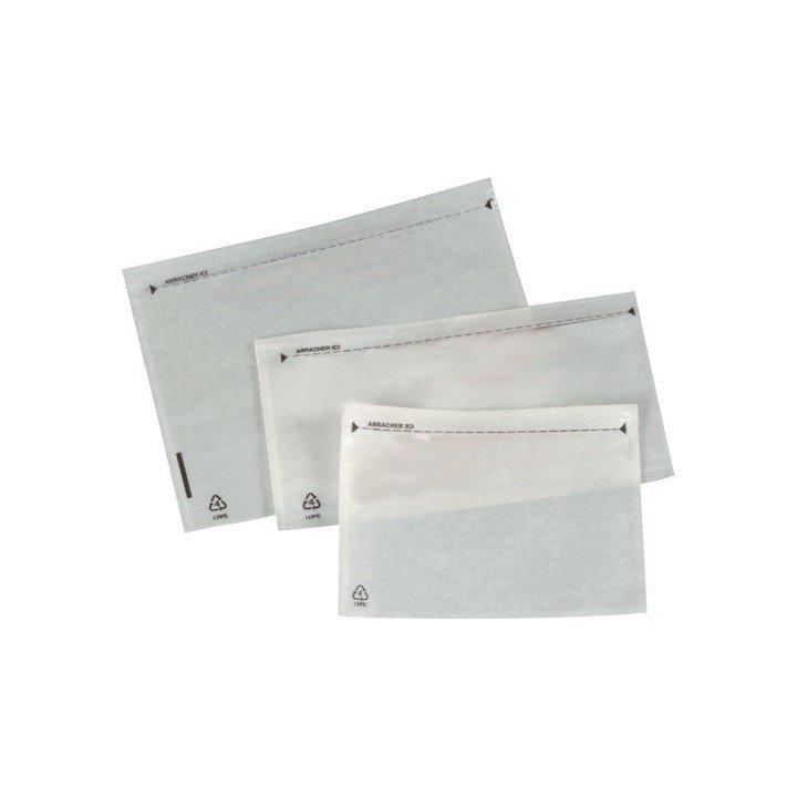 Pochettes adhésives porte-documents NEUTRE 160x115mm C6