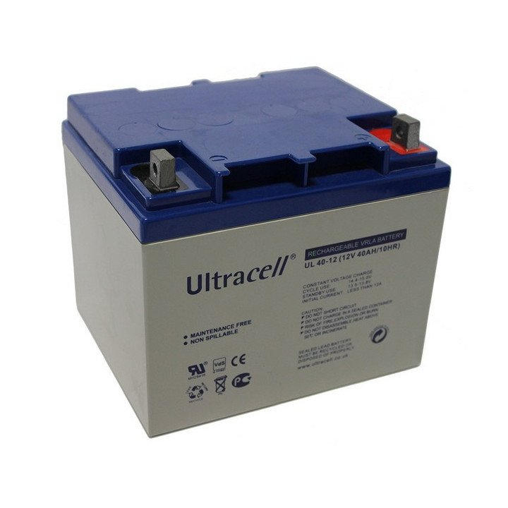 ULTRACELL UL40-12 batterie au plomb 12V 40AH 255x97x203mm