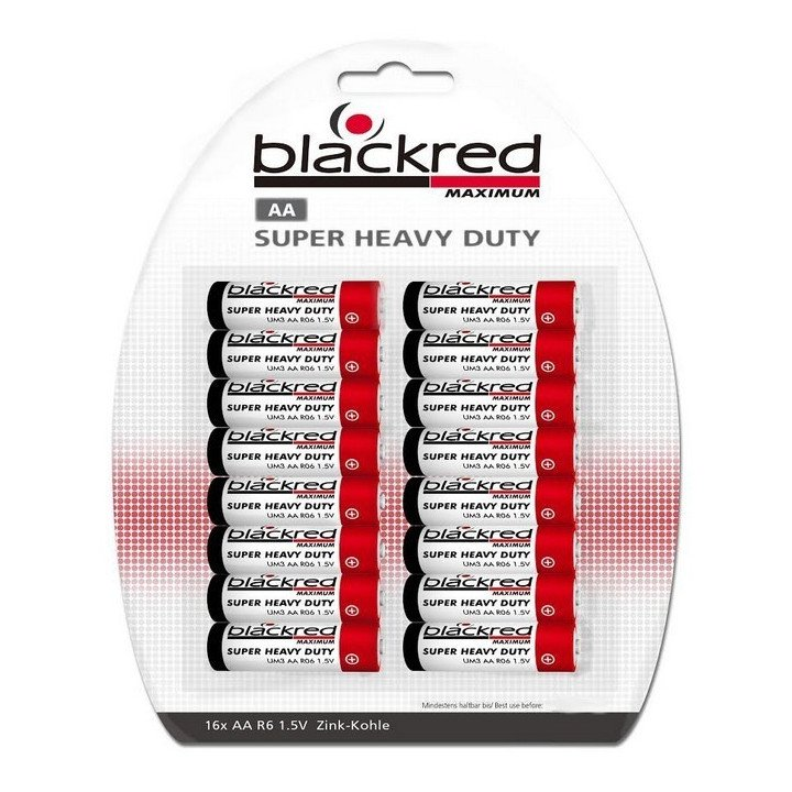 320 piles Blackred AA R06 (LR06 / LR6)  BP16
