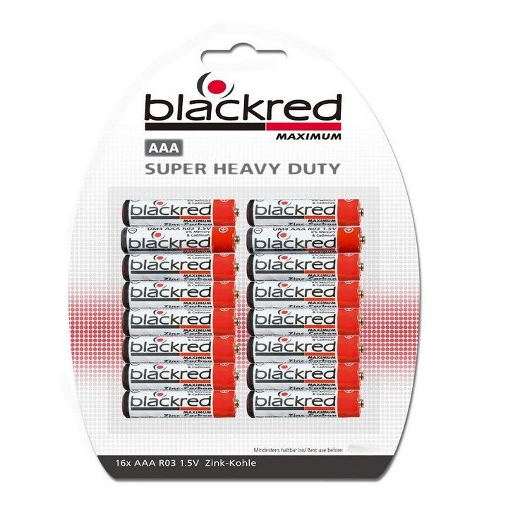 Lot 320 piles BLACKRED AAA R03 (LR03 / LR3)  BP16