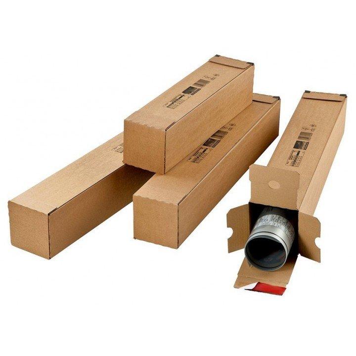 Carton boîte d'expéditiontube rectangulaire long