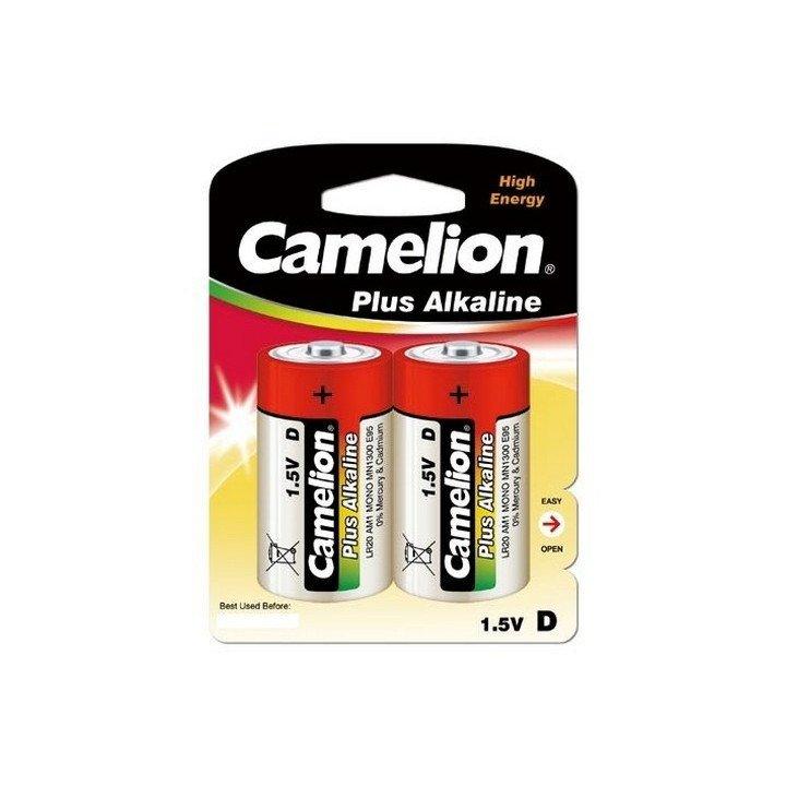 DESTOCK 12 piles (6 blisters) Camelion LR20 / D 06/2020 (blister jaune)
