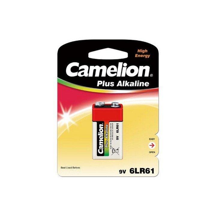 DESTOCK 12 piles (12 blisters) Camelion 9V / 6LR61 06/2020 (blister jaune)