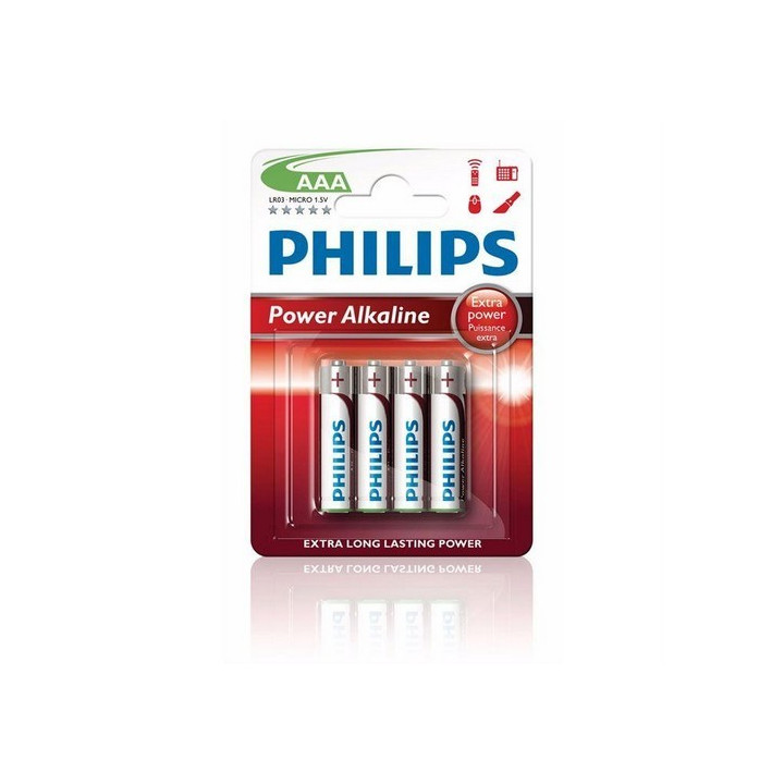 48 piles LR03 AAA (12 blisters) Philips Powerlife Alcalines R03 AAA