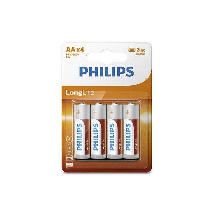 DESTOCKAGE / 48 piles (12 blisters) Philips Longlife R06 AA (LR06) 12-2020