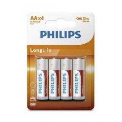 48 piles Philips Longlife R06 AA (LR06) mignon baton
