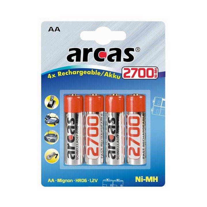 DESTOCK ARCAS 4 piles rechargeables AA 2700 mAh