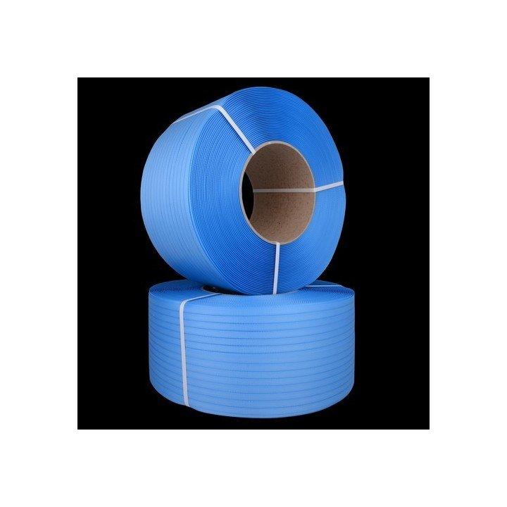 Feuillard en polypropylene grainé bleu pour cerclage