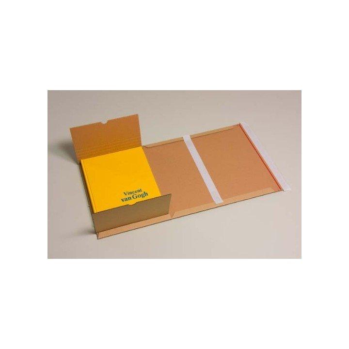 étuis postaux carton format DVD 145x129x(0-60mm) simple DVD double
