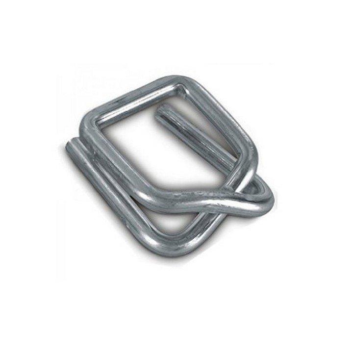 Boucle acier autobloquante 16 mm pour feuillard textile