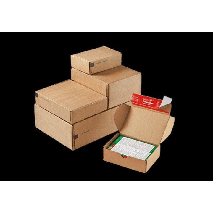 Boite postale (x20) autocollante marron 192x155x43 mm BPB-04