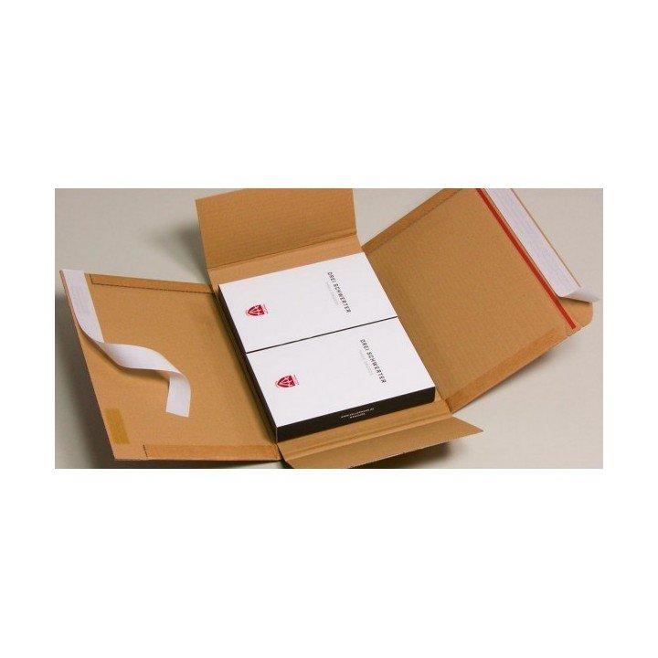 100 étuis postaux carton 350x260x(0-70mm) VARIA X-PACK 4