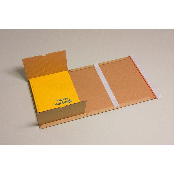 100 étuis livres postaux carton 250x190x(0-60mm) A5+