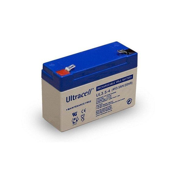 Batterie au plomb UL3.5-4 Ultracell 4V 3.500mAh