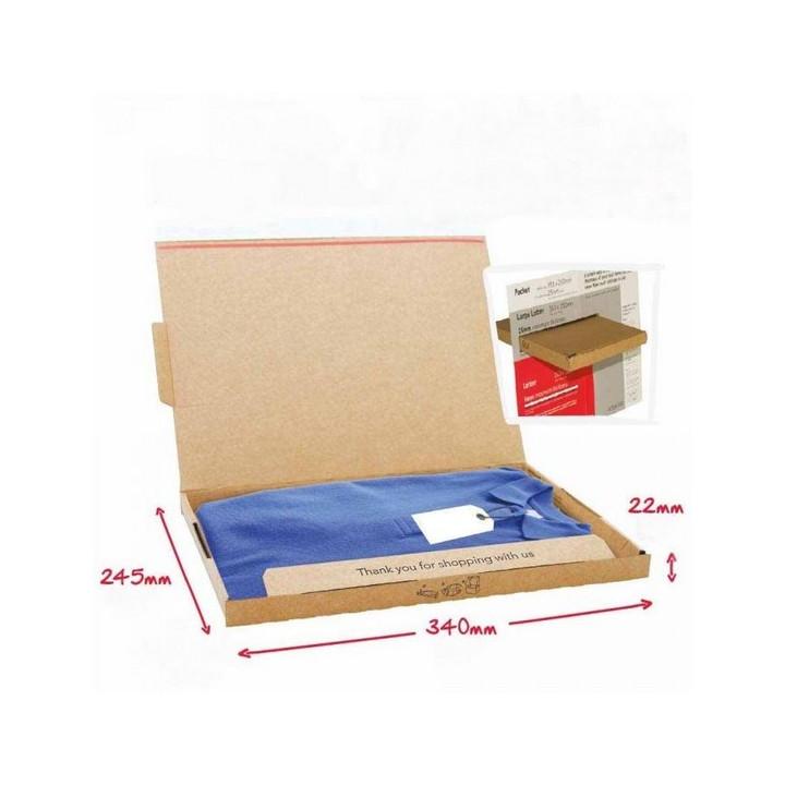 Boite postale marron (50x) autocollante Pop-Up 34 x 24,5x 2,2 cm SL3