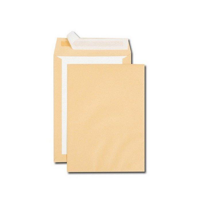 100 enveloppes brune DOS CARTON kraft C4 (229x324mm)