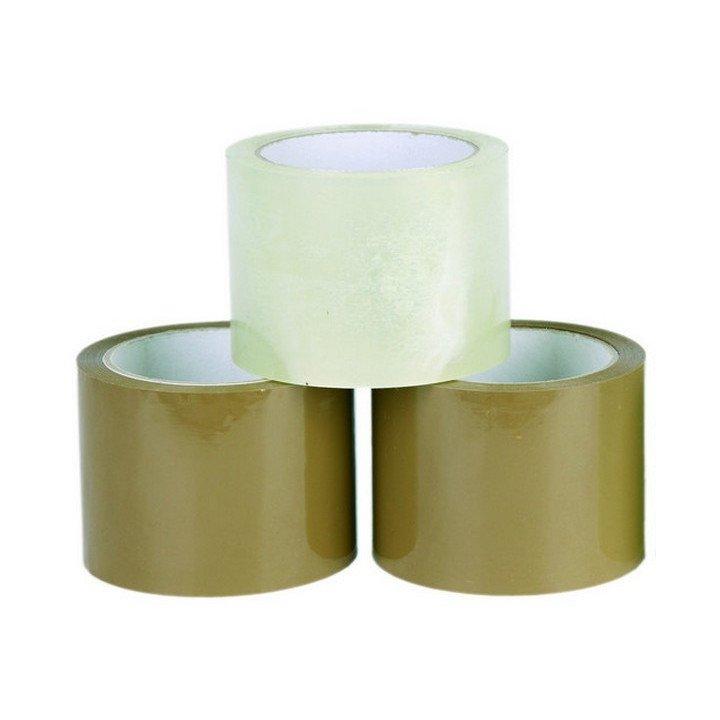 Lot de 6 ou 36 Rouleaux ruban adhésif marron ou transparent  75mm x 66m