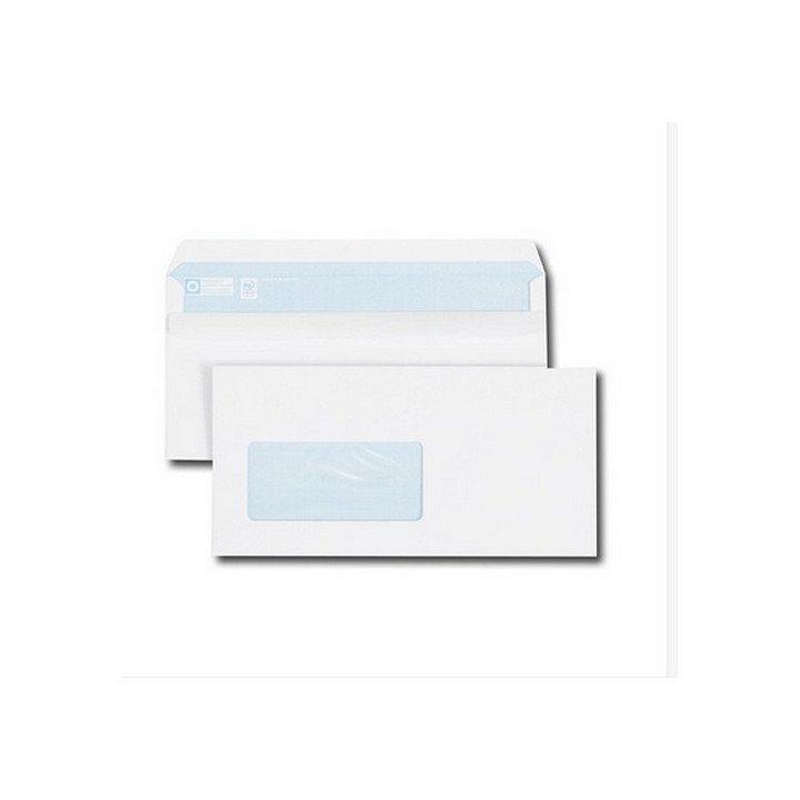 500 Enveloppes fenêtre GAUCHE Format DL 110 x 220 auto adhésives