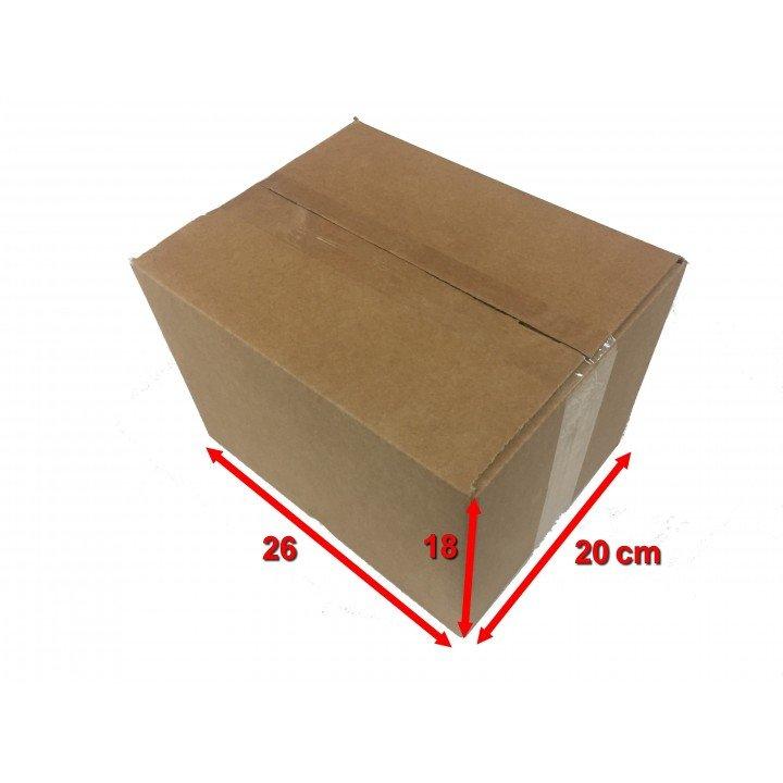 20 carton caisse américaine 26x20x18cm (fefco 201)