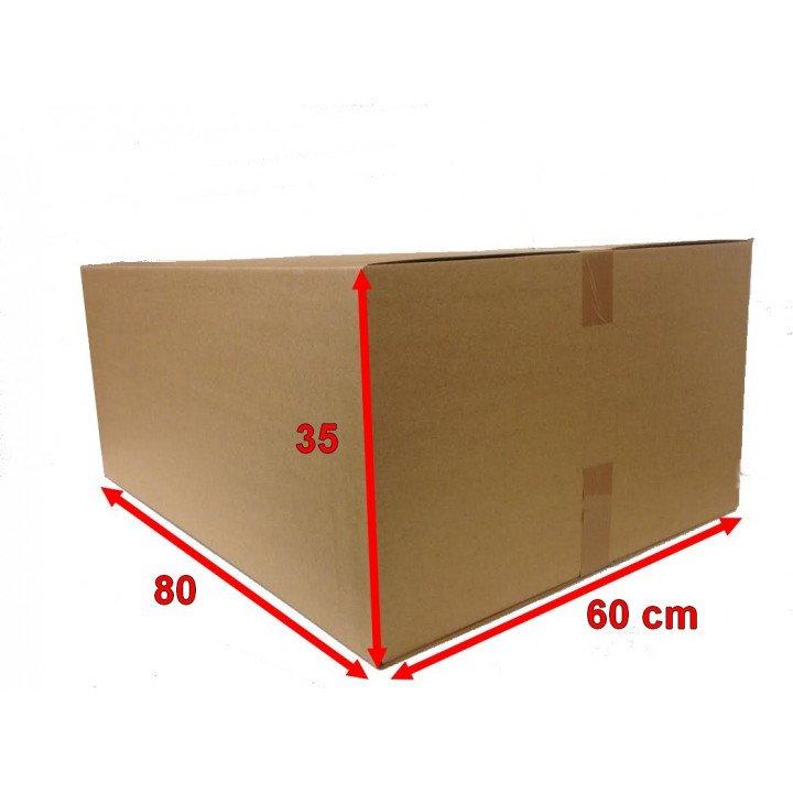 100 carton caisse américaine 80x60x35 (fefco 201)