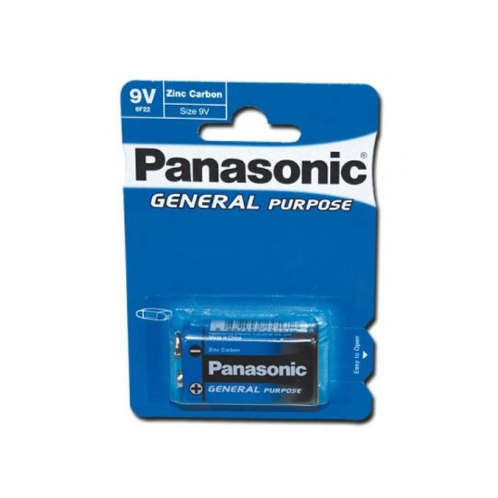 DESTOCKAGE 12 piles (12 blisters) Panasonic 9V 6F22 (6LF22 6LR61) 07/2019