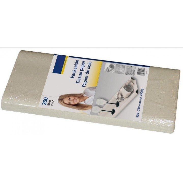 Paquet 250 feuilles papier de soie recyclé 500 x 750mm